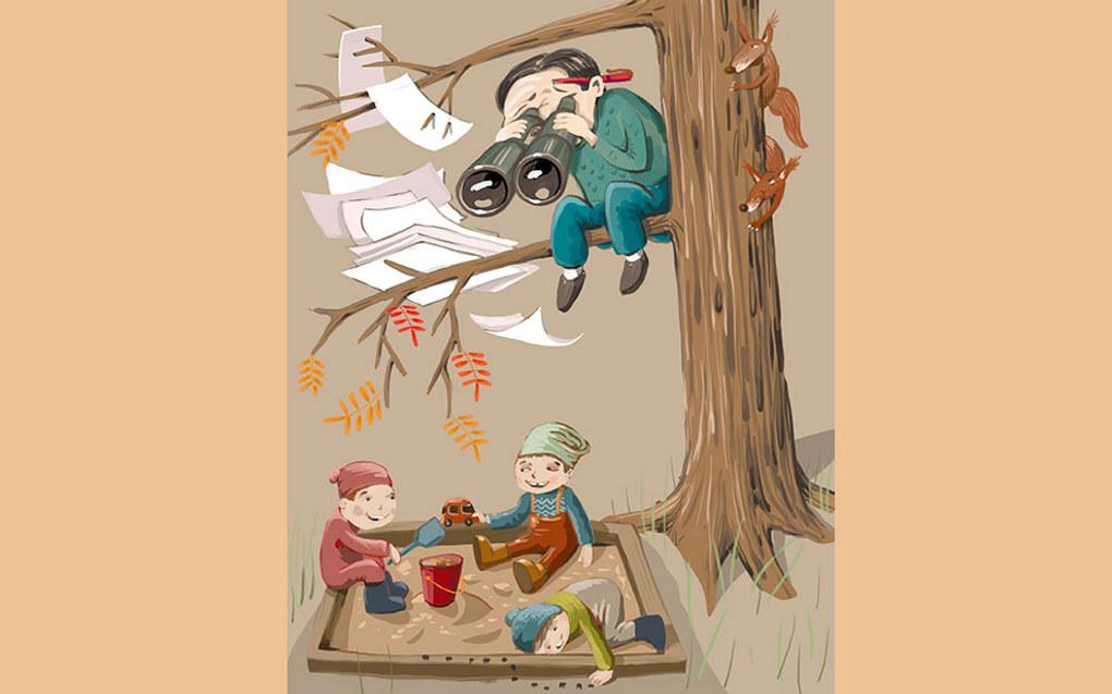 I denne artikkelen blir observasjon i barnehagen drøfta og sett i eit kritisk lys. Illustrasjon: Lars Aurtande | lars@aurtande.no