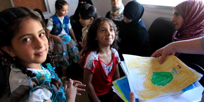 Flyktningbarn fra Syria i Jordan