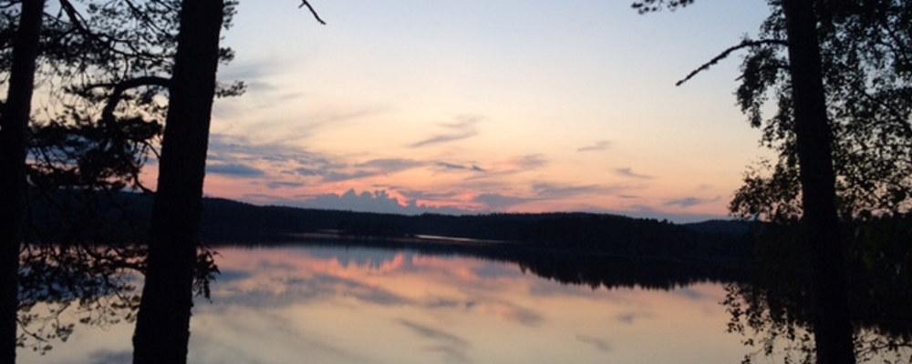Bilde av solnedgang Nord-Odal