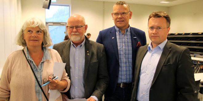 Mette Henriksen Aas, Fagforbundet, Terje Skyvulstad, Utdanningsforbundet, Trond Ellefsen, Delta og Espen Rokkan, PBL.