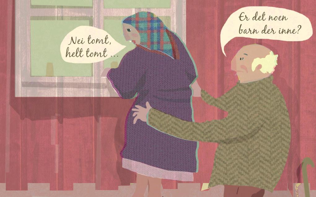 Selv om Norge er blant landene med høyest befolkningsvekst i Europa, har det vært utflytting fra rurale til urbane strøk. Det har ført til forgubbing og færre skolebarn i distriktene. Ill.: Tone Lileng  | post@tonelileng.no