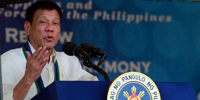 Den Filippinske presidenten Rodrigo Duterte