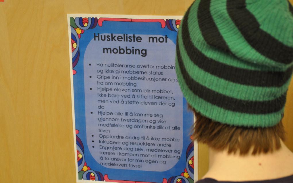 Aftenposten har avdekket at et betydelig flertall av mobbesakene som anmeldes til politiet, blir henlagt. Illustrasjonsfoto: Paal Svendsen.