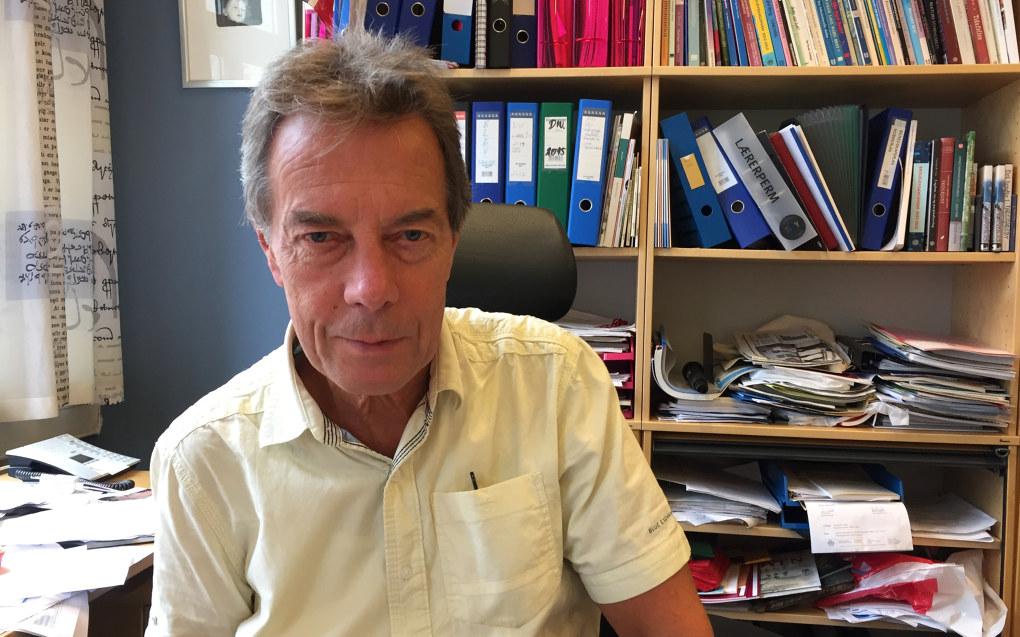 Rektor Terje Andersen ved Tøyen skole uttaler seg villig og ofte i riksmediene. Det mener han det er viktig å fortsette med. Foto: Vegard Velle, Vårt Oslo