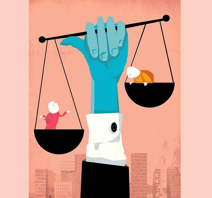 I hvilken grad fanger inntektssystemet opp kostnadsforskjeller i universelle tjenester som skyldes at kommunene og fylkeskommunene har forskjellige sosiale strukturer, spør kronikkforfatteren. Ill.: Tone Lileng  | post@tonelileng.no