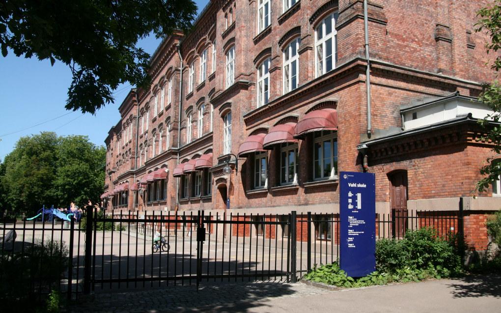 Ill.foto fra Vahl skole i Oslo sentrum. Foto: Ylva Törngren
