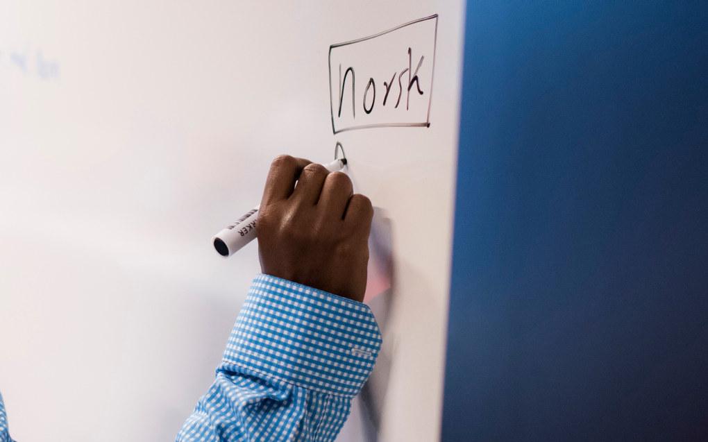 Regjeringen vil sørge for at innvandrere så tidlig som mulig får opplæring i norsk språk og norske verdier. Ill. foto: Erik M. Sundt