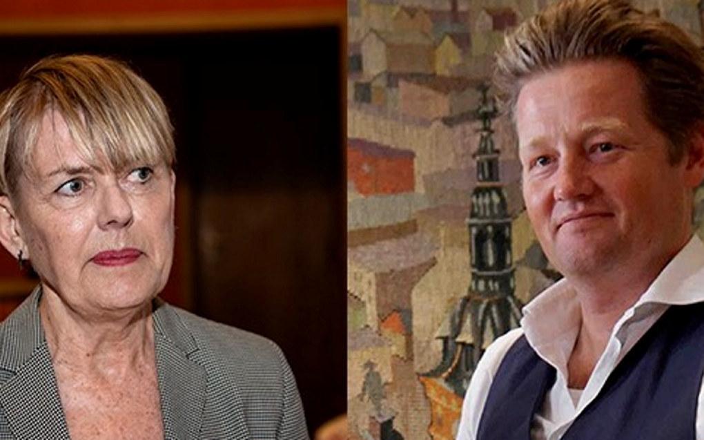 Astrid Søgnen, direktør for Utdanningsetaten i Oslo og lektor Simon Malkenes. Foto Mimsy Møller/Samfoto/NTB Scanpix og Marianne Ruud