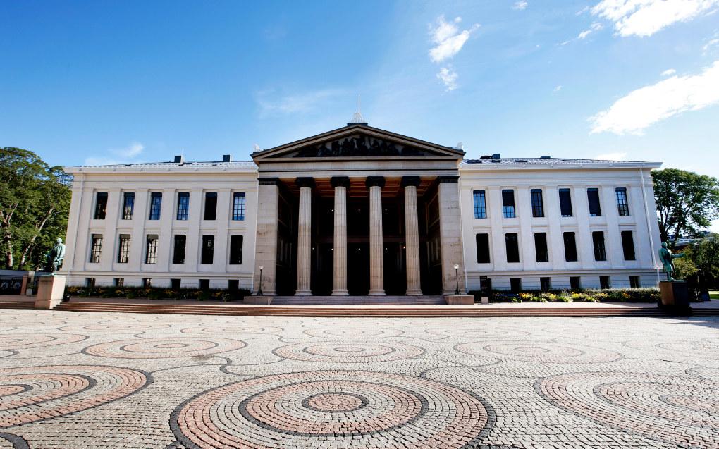Universitetet i Oslo (UiO) er det eldste og høyest rangerte universitetet i Norge. Det juridiske fakultet holder til i de opprinnelige universitetsbygningene ved Karl Johans gate. Foto: Lise Åserud / NTB scanpix