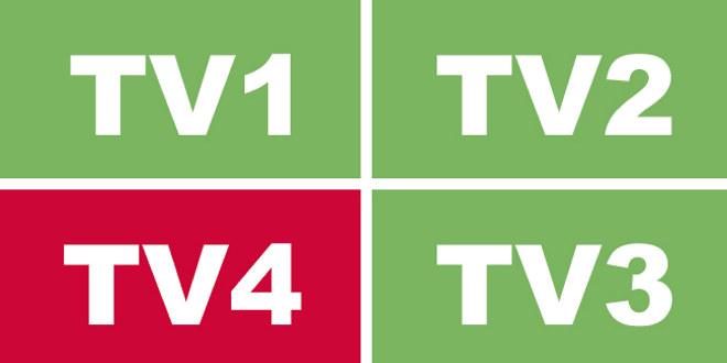 Logo med bokstavene TV4