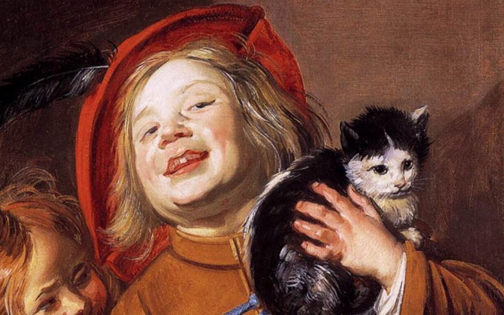 Utsnitt fra maleriet «To barn med en katt» av Judith Leyster (1629). Hentet fra Wikimedia Commons.