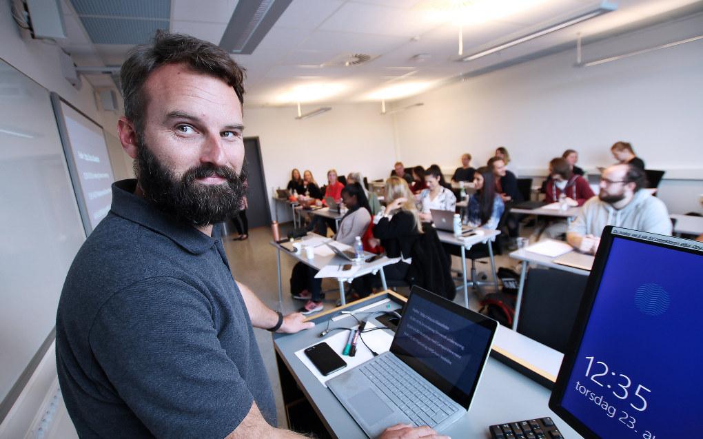 Lektor og IT-pedagog Morten Oddvik er en av de nye ekspertlærerne ved Universitetet i Sørøst-Norge. Foto: An-Magritt Larsen/Universitetet i Sørøst-Norge.