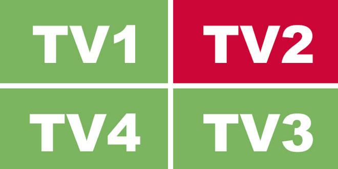 Logo med bokstavene TV2