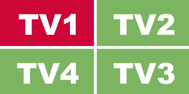 Logo med bokstavene TV1