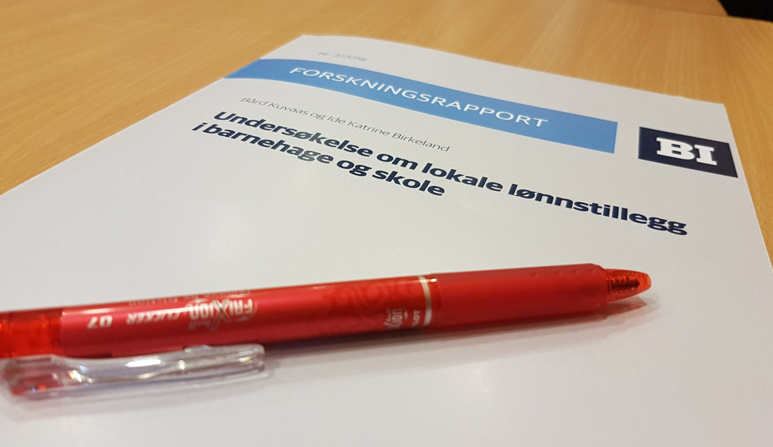 En ny forskningsrapport viser sterk motstand mot lokale lønnsforhandlinger blant lærere. Foto: Harald F. Wollebæk