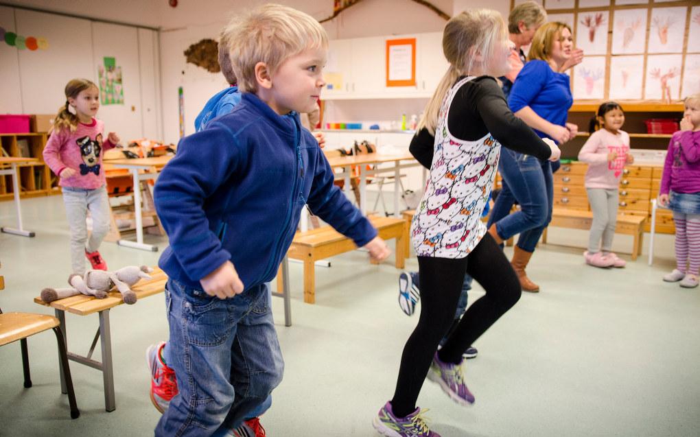Stortingsvedtaket om fysisk aktivitet for de minste elevene er ikke fulgt opp i regjeringens forslag til statsbudsjett. Ill. foto: Torkjell Trædal