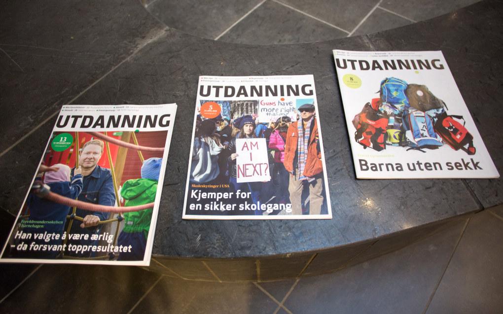 Hver utgave av Utdanning leses nå av nærmere 300.000 personer, ifølge en fersk måling fra Kantar Media. Foto: Hans Skjong