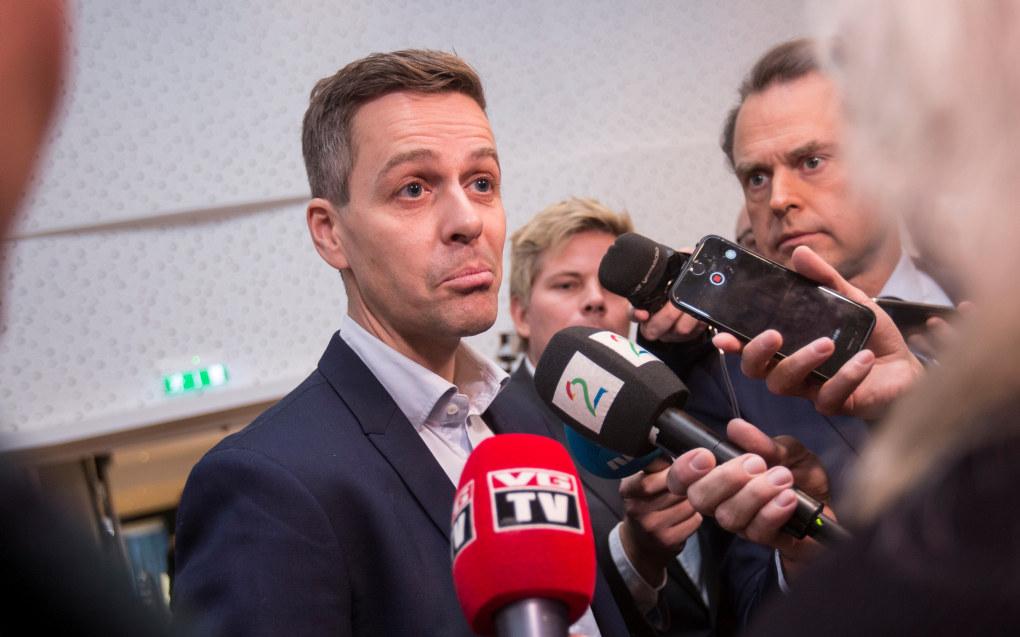Knut Arild Hareide før landsstyremøtet til Krf på Scandic Oslo Airport på Gardermoen torsdag ettermiddag. Foto: Trond Teigen / NTB scanpix