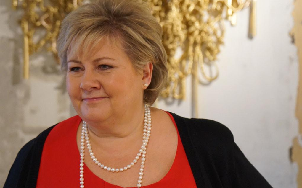 – Det er fire partier som forhandler. Vi har et grunnlag i mange saker som vi kan bygge på, poengterer statsminister Erna Solberg (H). Arkivfoto: Marianne Ruud