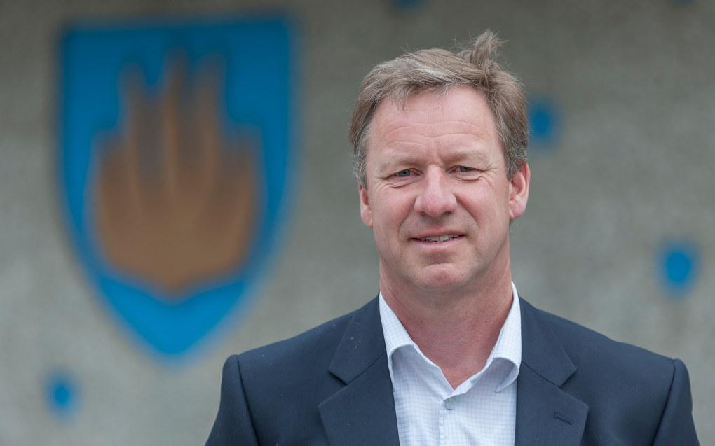 Rådmann i Røyken kommune i Buskerud, Per Morstad, mener han legger frem et forsvarlig, men stramt budsjettforslag for kommunestyret. Foto. Morten Flaten