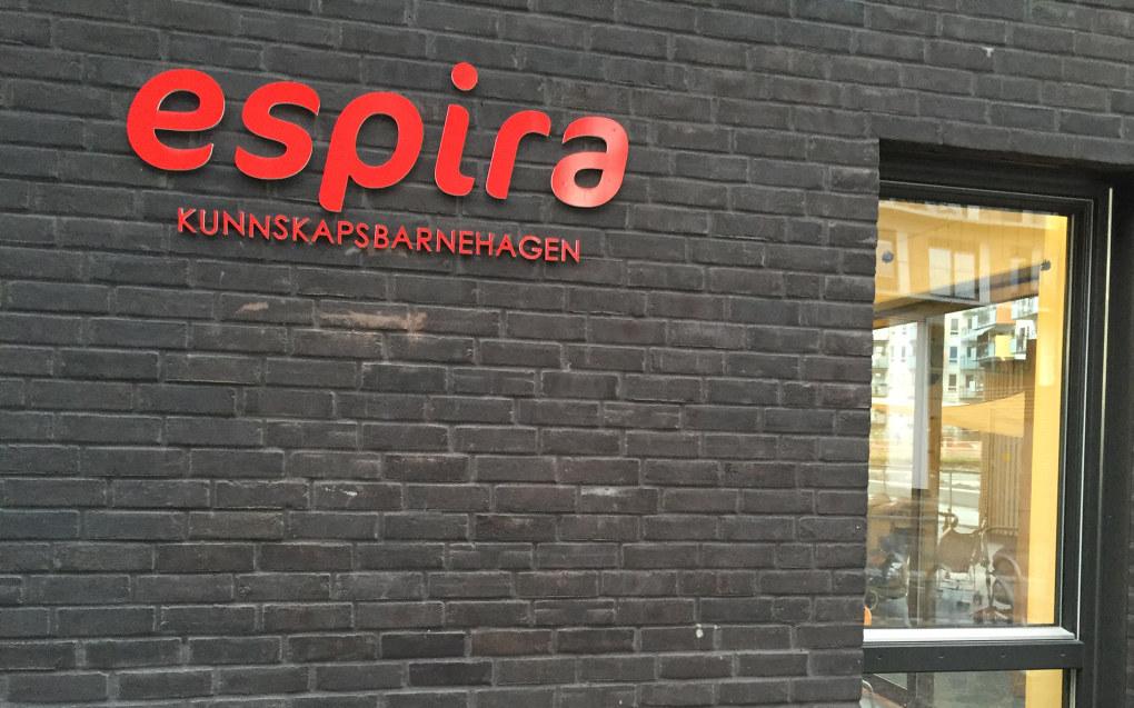 Espira er blant de store barnehagekjedene med mange stemmer på landsmøtene til PBL. Arkivfoto: Sonja Holtermann.