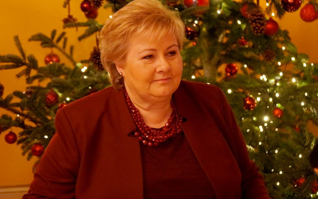 – Ved å opprettholde karakterkravet for å komme inn på lærerutdanningene og beholde de skjerpede kompetansekravene unngikk vi at lærernormen ble en norm for økt voksentetthet, mener statsminister Erna Solberg. Foto: Marianne Ruud