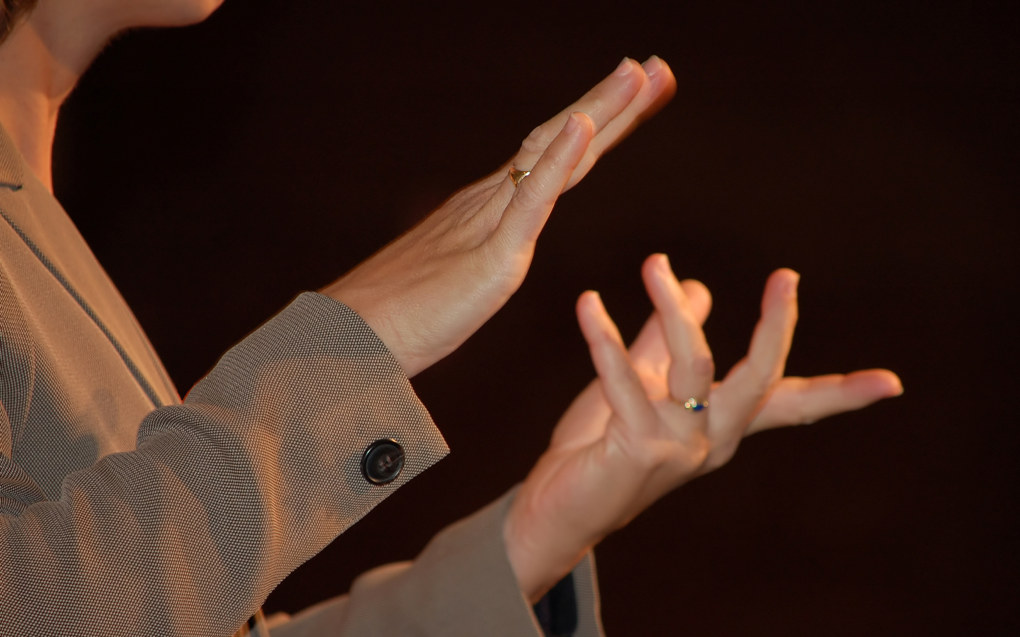 I dag er det ikke mastertilbud i tegnspråk ved grunnskolelærerutdanningene. Ill. foto: Julia Freeman-Woolport/Freeimages.com