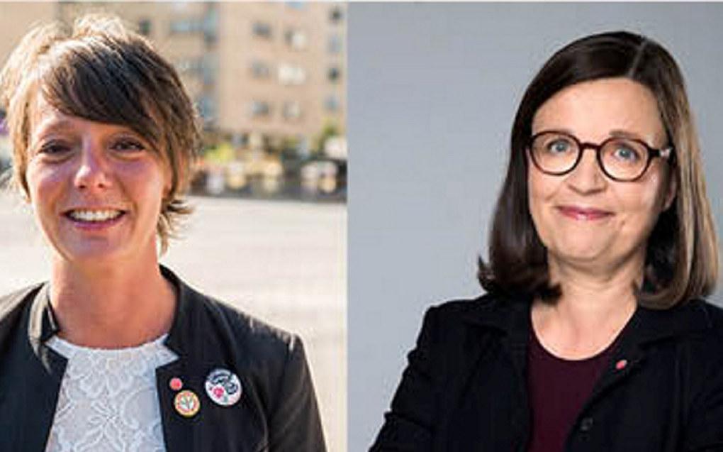 Matilda Ernkrans (til venstre) er ny minister for høyere utdanning og forsking, medan Anna Ekström tek over som utdanningsminister i Sverige. Foto: Socialdemokraterna/Utbildningsdepartementet