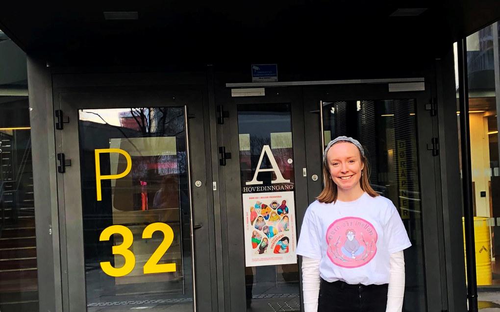 Hedda Eline Rand (22) er ikke overrasket over at lærerstudentene gir OsloMet dårlig karakter når det kommer til organisering. Foto: Privat
