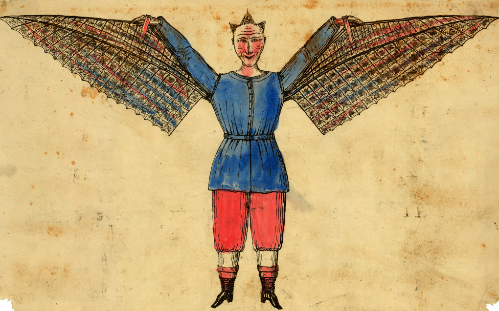 «Jeg lurer på hvorfor menneskene ikke kan fly?» er spørsmål femåringer kan stille. Barnehagedagen 2019 setter nysgjerrighet på agendaen. Illustrasjon: Wikimedia Commons / US Library of Congress.