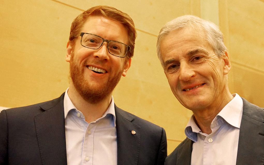 Martin Henriksen og Jonas Gahr Støre. Foto: Marianne Ruud