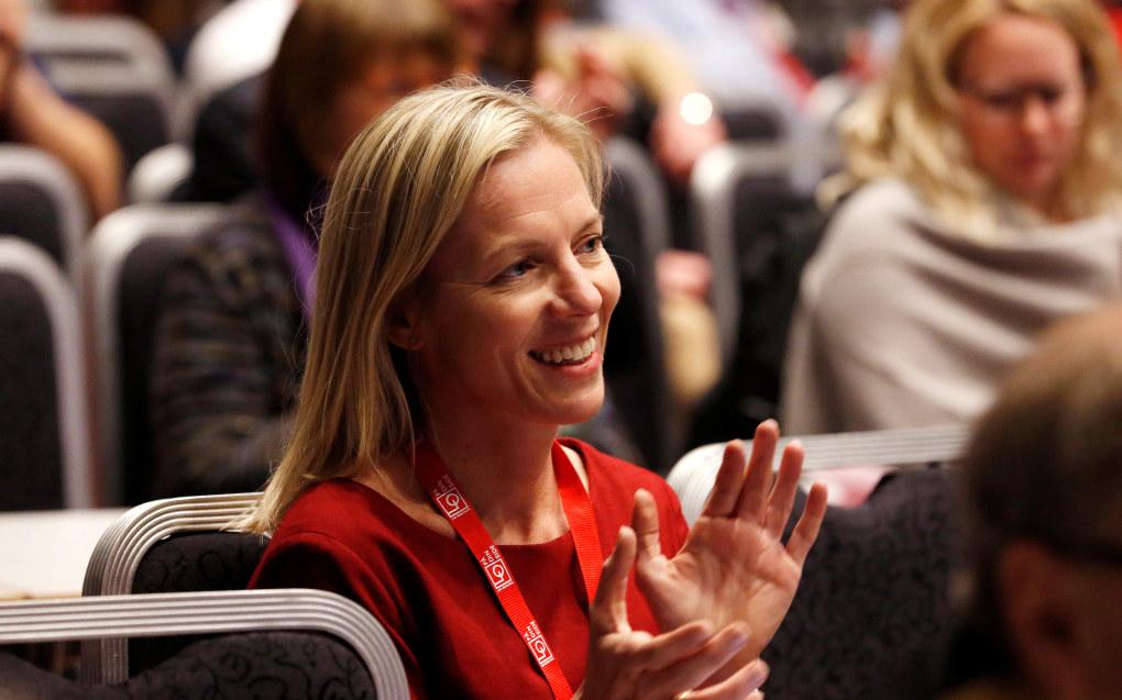 Marte Gerhardsen er den trolig den som overtar som direktør for Utdanningsetaten i Oslo, ifølge Dagsavisen. Bildet er tatt under LO-kongressen i 2017. Foto: Trond Solberg/VG