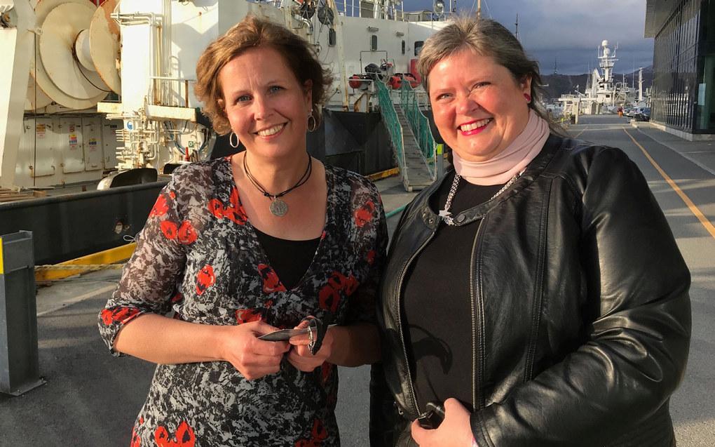 Anita Karlsen (t.v.) er valgt til ny leder i Utdanningsforbundet Nordland, mens Karen Strandenæs er ny nestleder.  Foto: Paal Svendsen