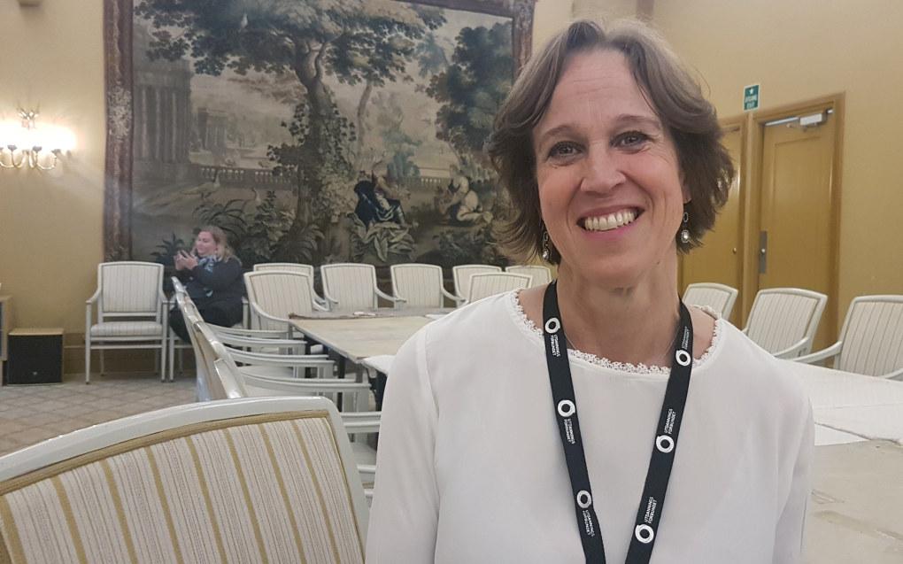 Solveig Hals (52) er valgt til den første lederen av Utdanningsforbundet Vestfold og Telemark. Foto: Harald F. Wollebæk