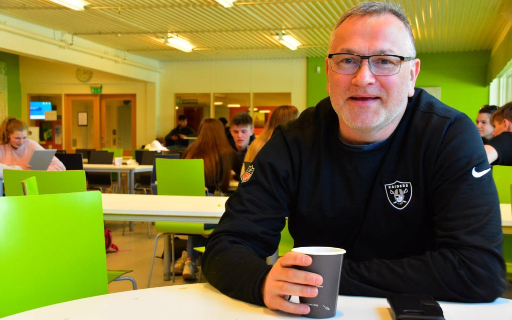 Ingen på Tromsdalen videregående skole i Tromsø setter flere karakterer enn Lars Einar Mathiassen. Foto: Kirsten Ropeid