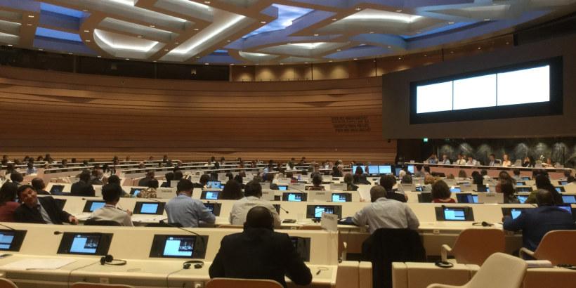 Bilde av deltagere på et møte i ILO - International Labour Organization