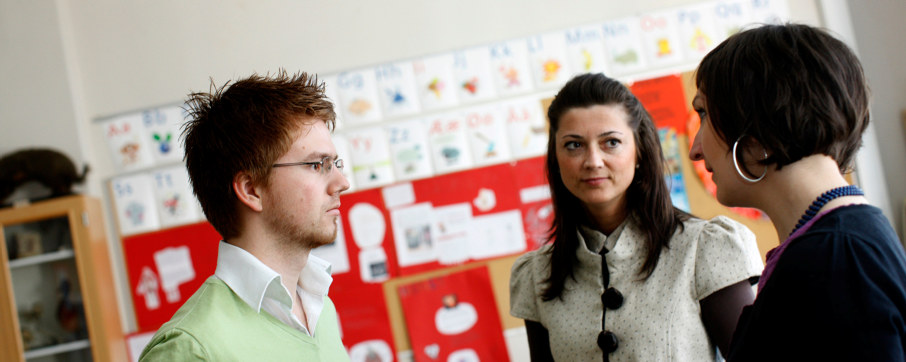 Lærere i samtale.