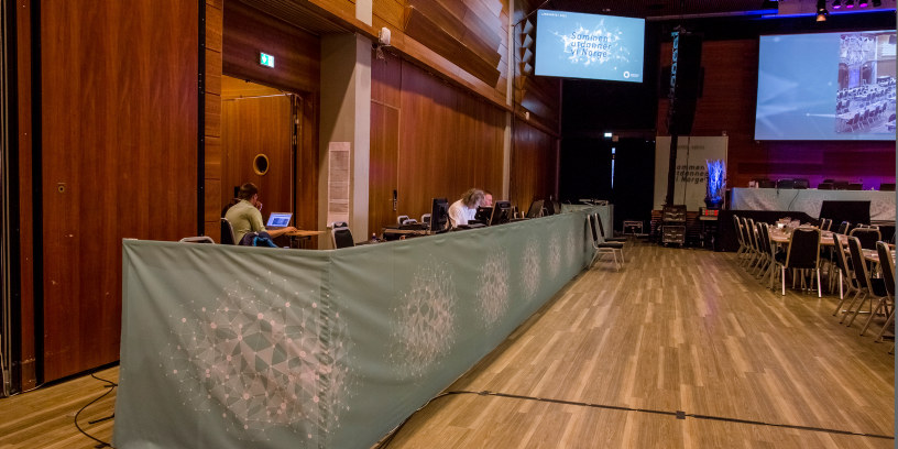Fra landsmøtesalen på Lillestrøm i 2015