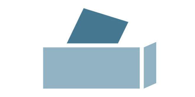 Illustrasjon av stemmeurne