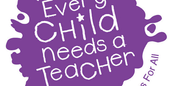 Bilde med tekst Every Child Needs a Teachers