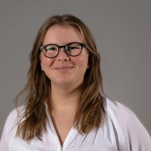 Profilbilde av en smilende Mari Telise Nilsen, som sitter i Pedagogstudentenes arbeidsutvalg i perioden 2019-2020