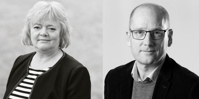 Mimmi Kvisvik (FO) og Steffen Handal i billedmotasje.
