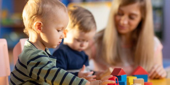 illustrasjonsfoto av barn i barnehage