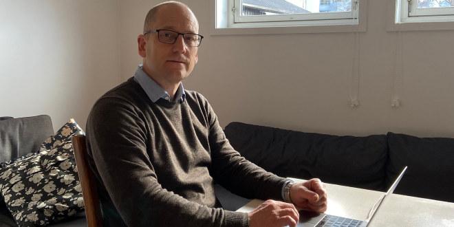 Steffen Handal har ofte jobbet hjemmefra i koronaperioden.