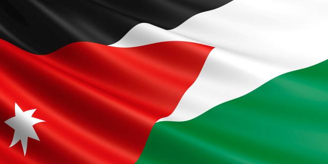 Bildet viser det jordanske flagget