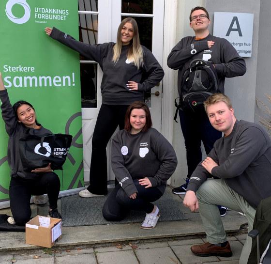 Bilde av styret til Pedagogstudentene i Innlandet.