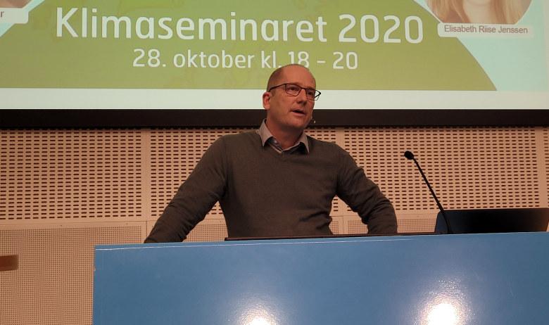 Steffen Handal under Klimaseminaret 2020