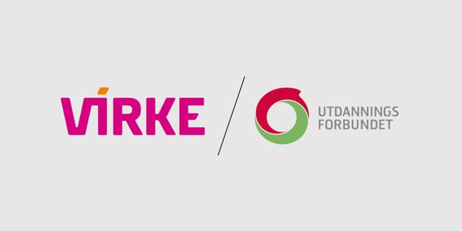 Logoer Virke og UDF.