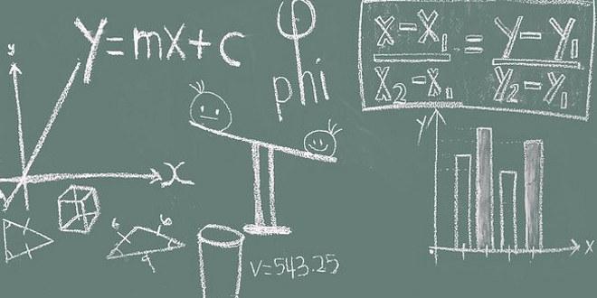 mattetikk, tall, regning, tavle, regnestykker, ligninger