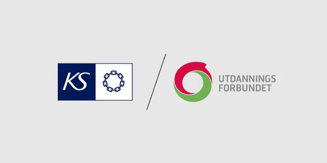Logoene til KS og Utdanningsforbundet.